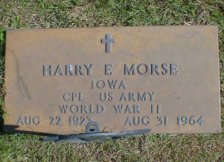 MORSE, HARRY E. - Cerro Gordo County, Iowa | HARRY E. MORSE