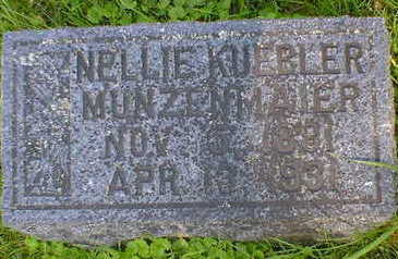KUEBLER MUNZENMAIER, NELLIE - Cerro Gordo County, Iowa | NELLIE KUEBLER MUNZENMAIER