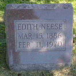 NEESE, EDITH - Cerro Gordo County, Iowa   EDITH NEESE