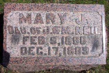 NEIL, MARY J. - Cerro Gordo County, Iowa | MARY J. NEIL