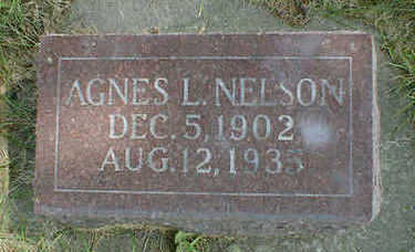 NELSON, AGNES L. - Cerro Gordo County, Iowa | AGNES L. NELSON