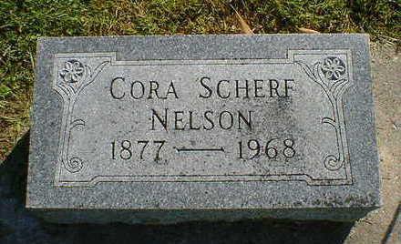 SCHERF NELSON, CORA - Cerro Gordo County, Iowa | CORA SCHERF NELSON