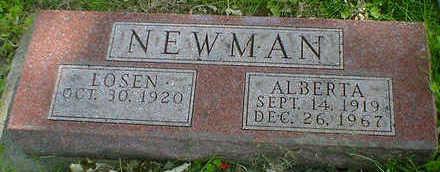 NEWMAN, ALBERTA - Cerro Gordo County, Iowa   ALBERTA NEWMAN