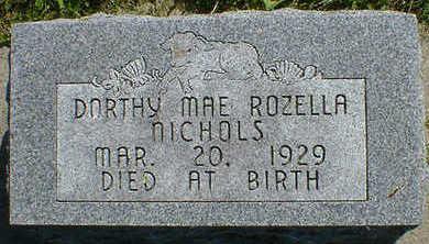 NICHOLS, DOROTHY MAE ROZELLA - Cerro Gordo County, Iowa   DOROTHY MAE ROZELLA NICHOLS