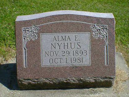 NYHUS, ALMA E. - Cerro Gordo County, Iowa | ALMA E. NYHUS