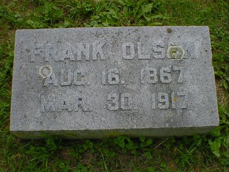 OLSEN, FRANK - Cerro Gordo County, Iowa   FRANK OLSEN