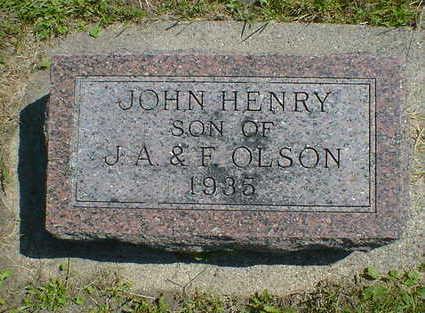 OLSON, JOHN HENRY - Cerro Gordo County, Iowa | JOHN HENRY OLSON