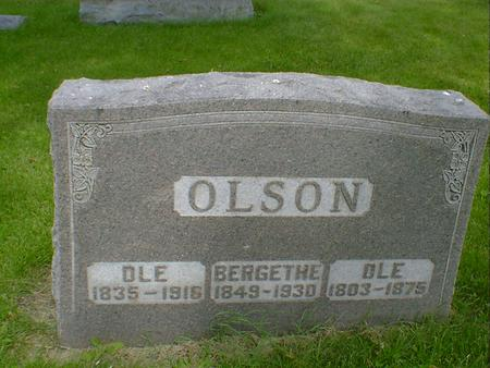 OLSON, OLE - Cerro Gordo County, Iowa | OLE OLSON