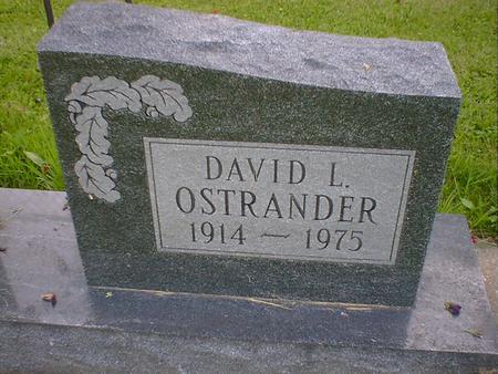 OSTRANDER, DAVID L. - Cerro Gordo County, Iowa | DAVID L. OSTRANDER