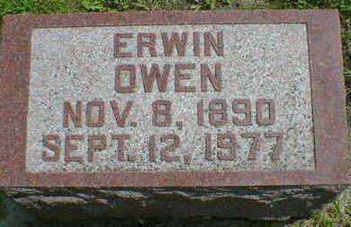 OWEN,  ERWIN - Cerro Gordo County, Iowa    ERWIN OWEN