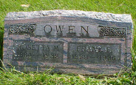 OWEN, ROSETTA M. - Cerro Gordo County, Iowa | ROSETTA M. OWEN
