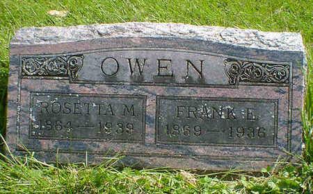 OWEN, FRANK E. - Cerro Gordo County, Iowa   FRANK E. OWEN