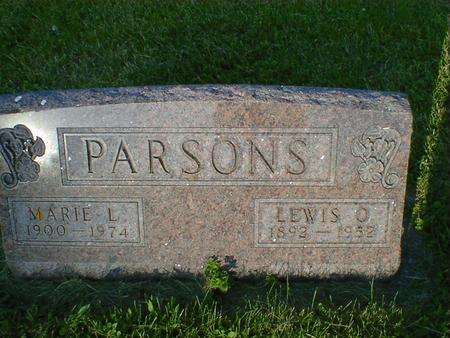 PARSONS, MARIE L. - Cerro Gordo County, Iowa | MARIE L. PARSONS