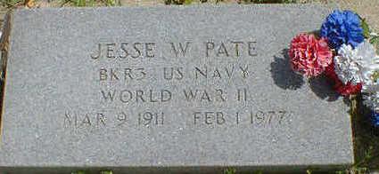 PATE, JESSE W. - Cerro Gordo County, Iowa   JESSE W. PATE