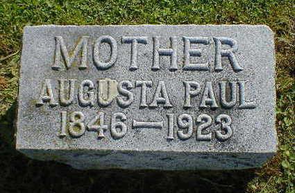 PAUL, AUGUSTA - Cerro Gordo County, Iowa   AUGUSTA PAUL