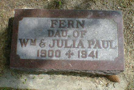 PAUL, FERN - Cerro Gordo County, Iowa   FERN PAUL