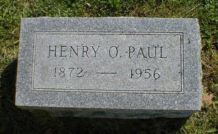 PAUL, HENRY O. - Cerro Gordo County, Iowa | HENRY O. PAUL