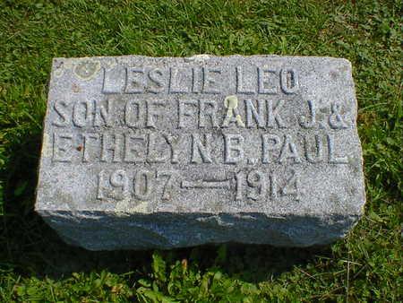 PAUL, LESLIE LEO - Cerro Gordo County, Iowa | LESLIE LEO PAUL