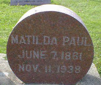 PAUL, MATILDA - Cerro Gordo County, Iowa | MATILDA PAUL