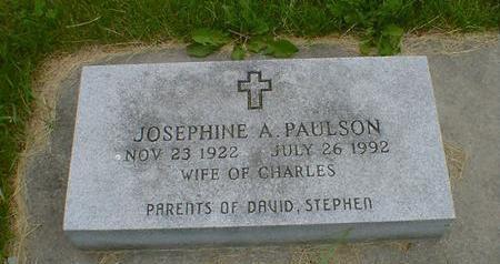 PAULSON, JOSEPHINE A. - Cerro Gordo County, Iowa   JOSEPHINE A. PAULSON