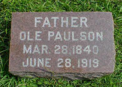 PAULSON, OLE - Cerro Gordo County, Iowa | OLE PAULSON