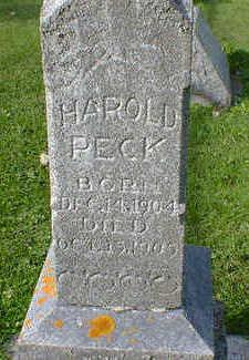PECK, HAROLD - Cerro Gordo County, Iowa | HAROLD PECK