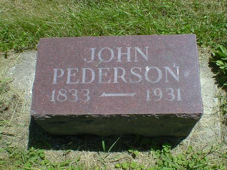 PEDERSON, JOHN - Cerro Gordo County, Iowa | JOHN PEDERSON