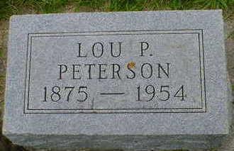PETERSON, LOU P. - Cerro Gordo County, Iowa | LOU P. PETERSON