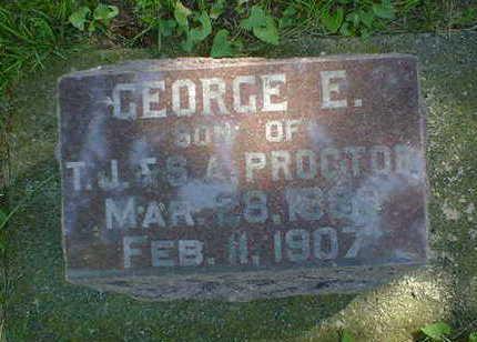 PROCTOR, GEORGE E. - Cerro Gordo County, Iowa   GEORGE E. PROCTOR
