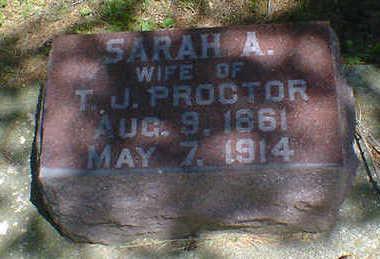 PROCTOR, SARAH A. - Cerro Gordo County, Iowa | SARAH A. PROCTOR