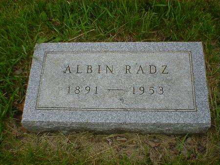 RADZ, ALBIN - Cerro Gordo County, Iowa | ALBIN RADZ