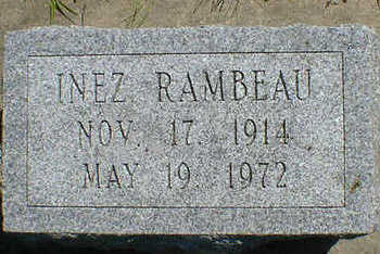 RAMBEAU, INEZ - Cerro Gordo County, Iowa | INEZ RAMBEAU