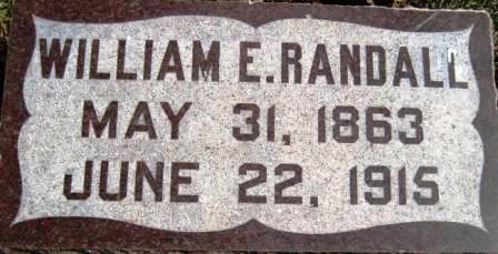 RANDALL, WILLIAM E. - Cerro Gordo County, Iowa   WILLIAM E. RANDALL