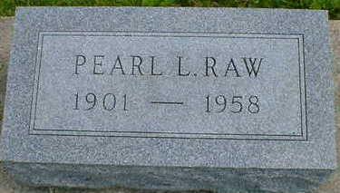 RAW, PEARL L. - Cerro Gordo County, Iowa   PEARL L. RAW