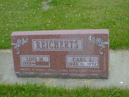 REICHERTS, CARL L. - Cerro Gordo County, Iowa | CARL L. REICHERTS