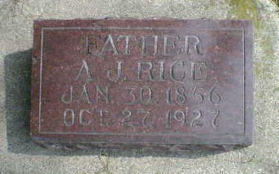 RICE, A. J. - Cerro Gordo County, Iowa | A. J. RICE