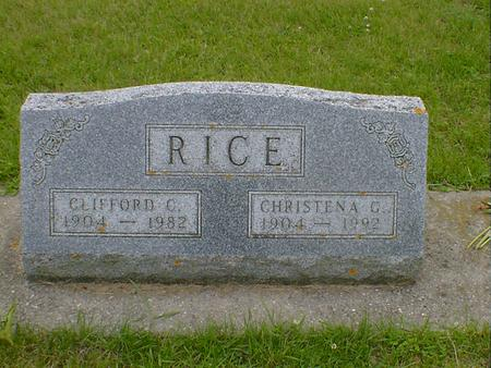 RICE, CHRISTENA G. - Cerro Gordo County, Iowa | CHRISTENA G. RICE