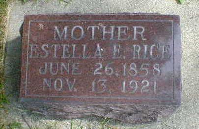 RICE, ESTELLA E. - Cerro Gordo County, Iowa | ESTELLA E. RICE