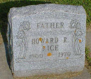 RICE, HOWARD R. - Cerro Gordo County, Iowa   HOWARD R. RICE