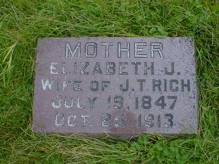 RICH, ELIZABETH J. - Cerro Gordo County, Iowa   ELIZABETH J. RICH