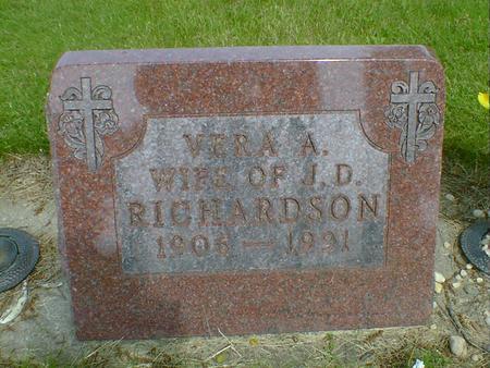 RICHARDSON, VERA A. - Cerro Gordo County, Iowa   VERA A. RICHARDSON
