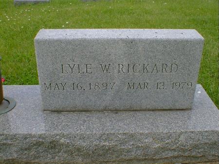 RICKARD, LYLE W. - Cerro Gordo County, Iowa | LYLE W. RICKARD