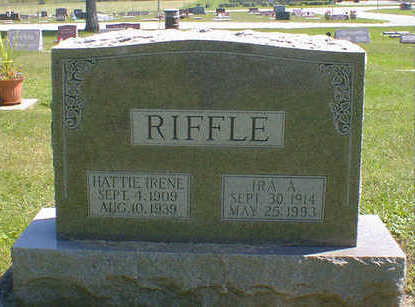 RIFFLE, HATTIE IRENE - Cerro Gordo County, Iowa | HATTIE IRENE RIFFLE