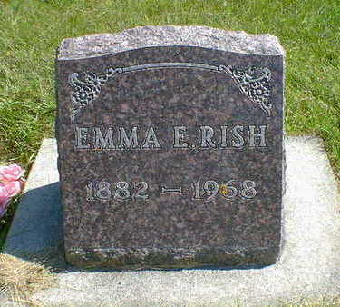RISH, EMMA E. - Cerro Gordo County, Iowa   EMMA E. RISH
