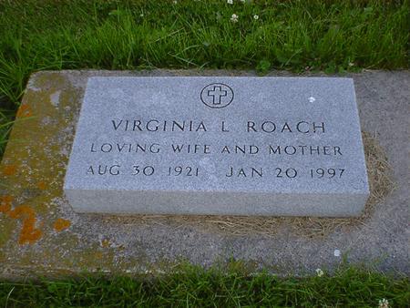ROACH, VIRGINIA L. - Cerro Gordo County, Iowa   VIRGINIA L. ROACH