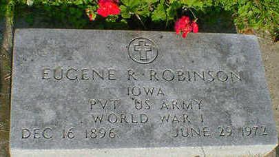 ROBINSON, EUGENE R. - Cerro Gordo County, Iowa   EUGENE R. ROBINSON