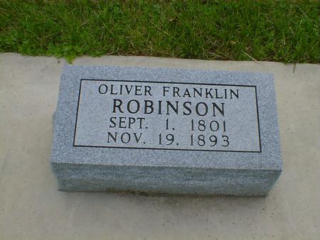 ROBINSON, OLIVER FRANKLIN - Cerro Gordo County, Iowa | OLIVER FRANKLIN ROBINSON