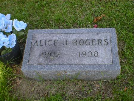 ROGERS, ALICE J. - Cerro Gordo County, Iowa   ALICE J. ROGERS