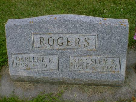 ROGERS, KINGSLEY R. - Cerro Gordo County, Iowa   KINGSLEY R. ROGERS