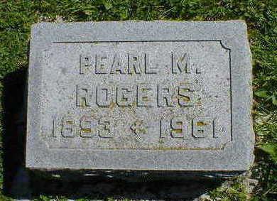 ROGERS, PEARL M. - Cerro Gordo County, Iowa   PEARL M. ROGERS